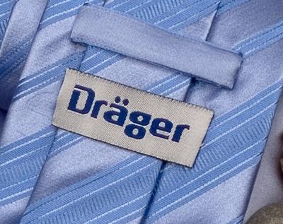 Dräger Krawatte Label