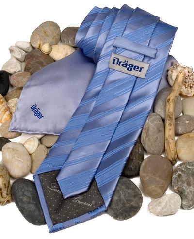 Dräger Krawatte mit Label und Damentuch