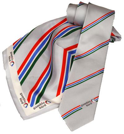 Gambia Bird Krawatte und Damentuch