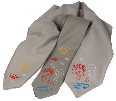 LBS Münster Weltspartag Krawatte und Damentuch