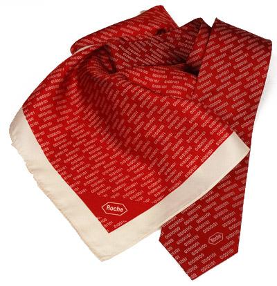 Roche Diagnostics Krawatte und Damentuch